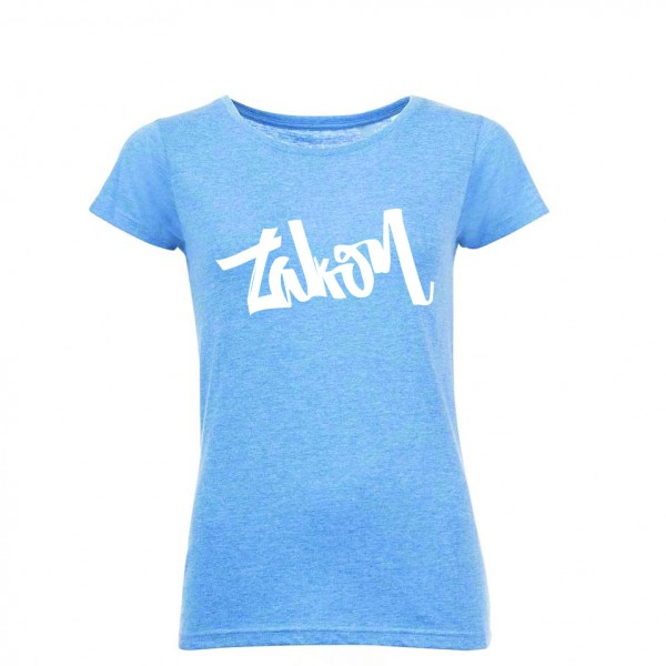 zakon T-shirt modra/bel